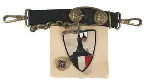 German WWII lot Navy dagger hangers etc