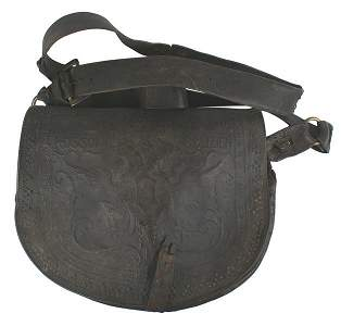 Austrian 18th Century musketeer cartridge pouch