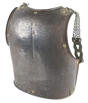 French Cuirassier curass backplate armor
