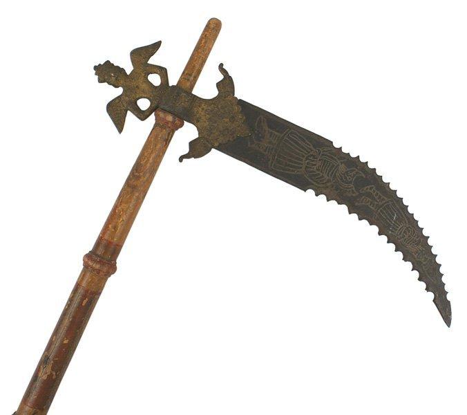 Indian crow-bill buckie dagger 19th Century