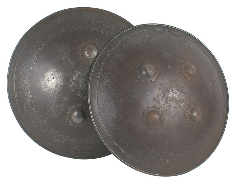 Pair of Indian dhals shields 18th-19th Century