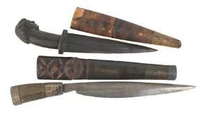 Lot of 2 Pacific Region daggers Golok