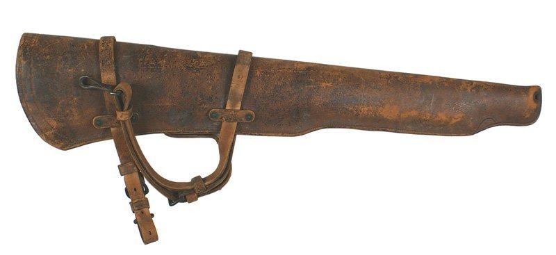 U.S. M1904 brown leather rifle scabbard