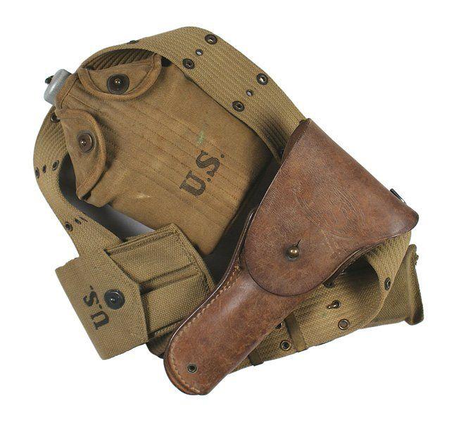 U.S. WWII combat web belt holster