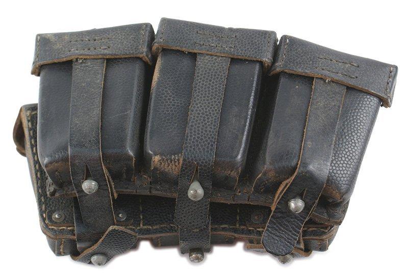German WWII Navy K-98 cartridge pouches