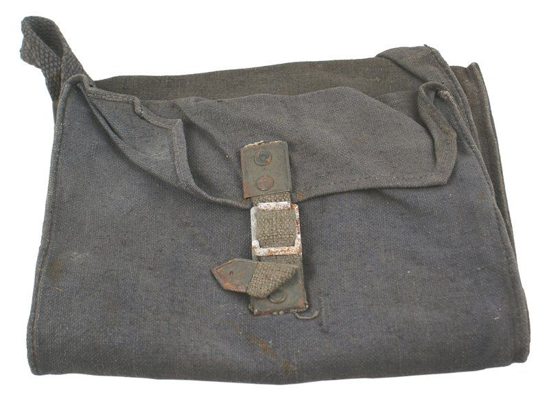 Pair of German WWII Army cloth ammo bags