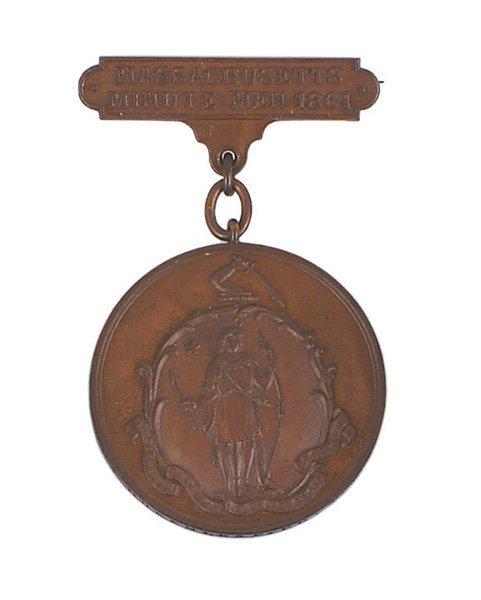 MASSACHUSETTS MINUTE MEN 1861 medal