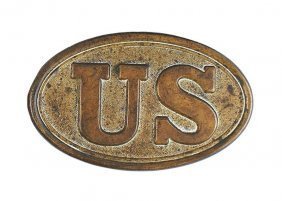 Civil War Us Oval Buckle