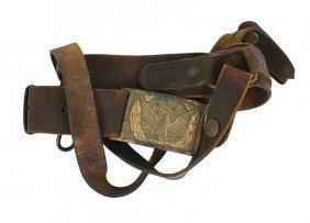 Civil War Cavalry Sword Belt And Buckle