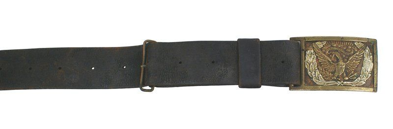 Civil War era belt and buckle
