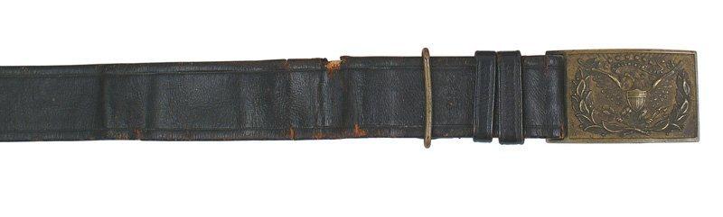 Civil War Officer belt and eagle buckle
