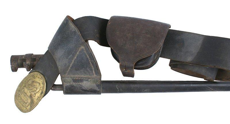 Civil War EM black leather belt/accessories