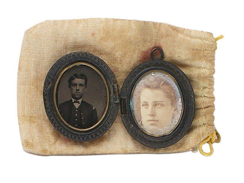 Civil War thermoplastic photo locket