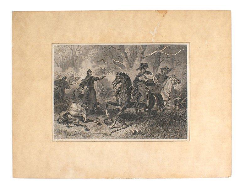 Civil War print GEN. ZOLLICOFFER
