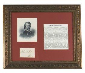 Civil War Maj. Gen. John Logan Signed Print