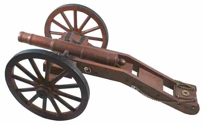 Scale model Civil War Napoleon type cannon