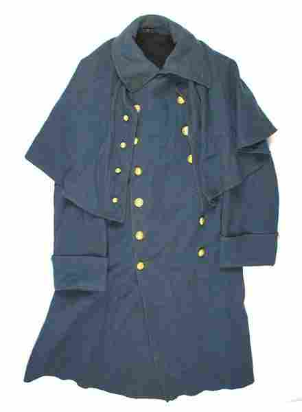 Indian Wars period overcoat with cape