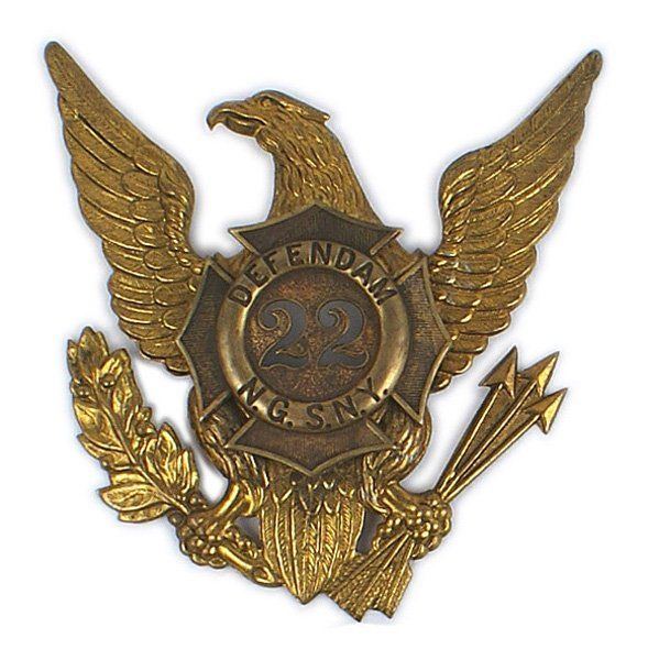 NYS National Guard 22nd Regiment helmet plate