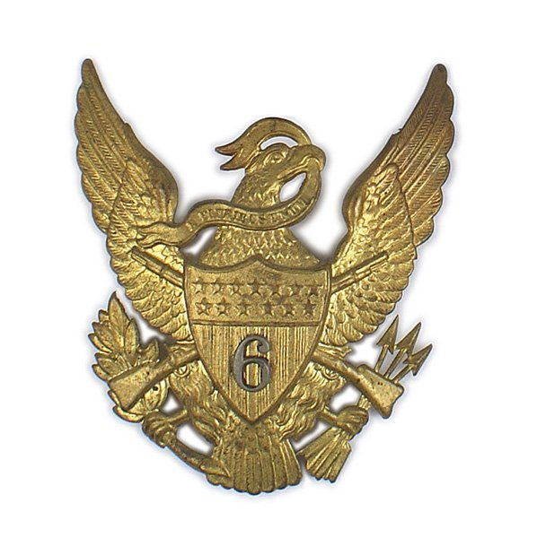 U.S. 6th Infantry M1881 EM helmet plate