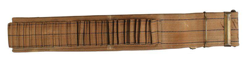 Span-Am War Mills woven cartridge belt