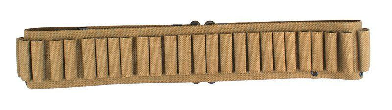 Tan woven Span-Am War cartridge belt