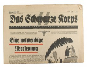 Das Schwarze Korps Official Ss Newspaper
