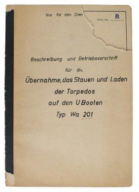 German Wwii Booklet Wa201 Torpedos