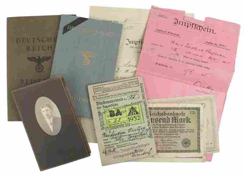 Lot of 2 German WWII ID Jewish family