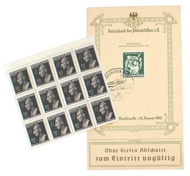 Third Reich stamp lot Heydrich etc