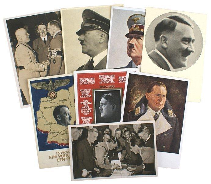 Lot of 7 German WWII Adolf Hitler postcards