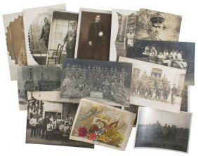 Lot Of 15 Miscellaneous Wwi Photo Postcards