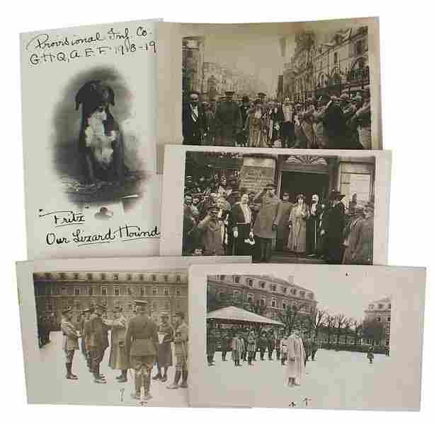 Lot of 4 photo cards U.S. General Pershing etc