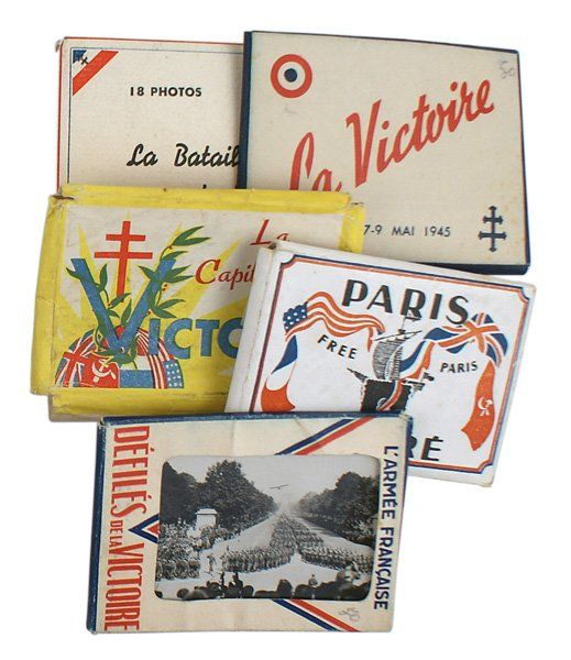 Lot of 5 1944 French Liberation of Paris photos