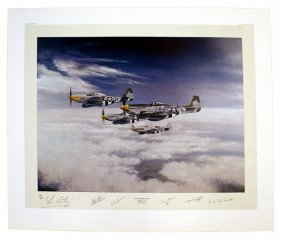 Proof Print Of The Bottisham Four By Les Carter