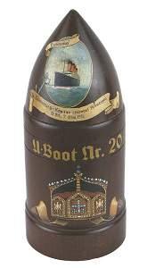 German WWI wood tobacco humidor Lusitania