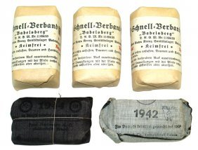 Lot Of German Wwii Bandages Red Cross