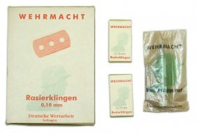 German Wwii Army Lot Issue Razor Soap Etc