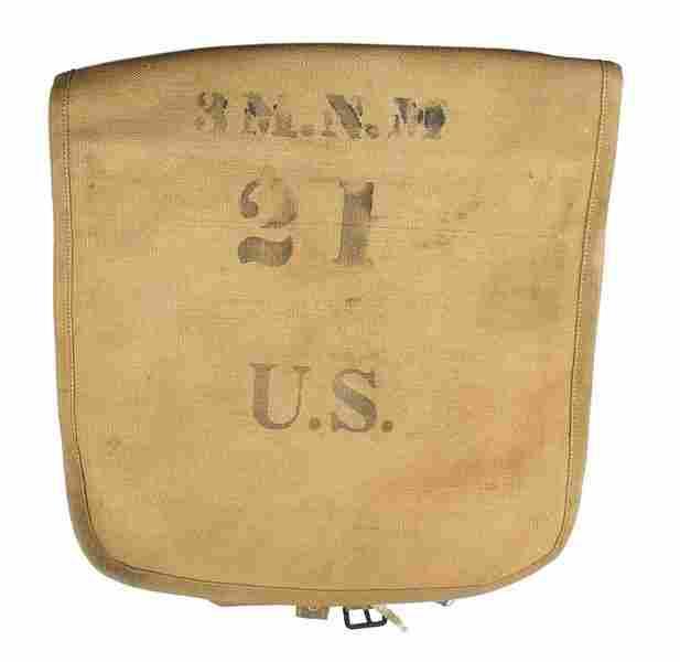 U.S. M1908 tan web haversack