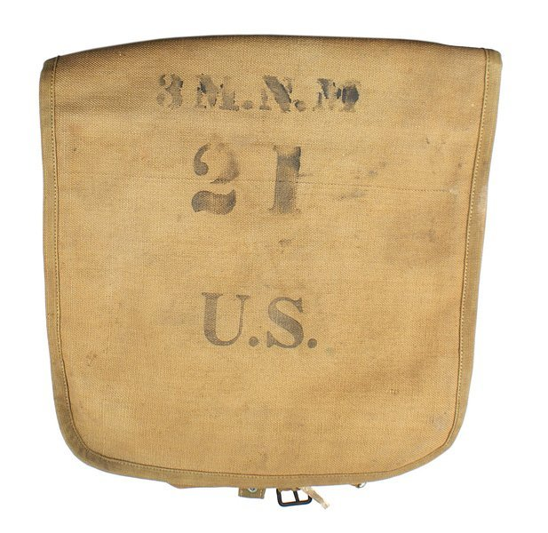 U.S. M1908 tan web haversack