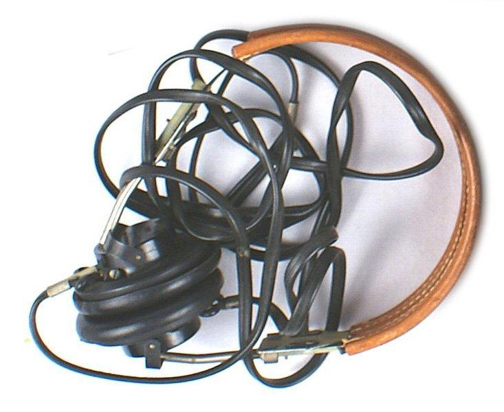 Lot of U.S. WWII earphones escape map