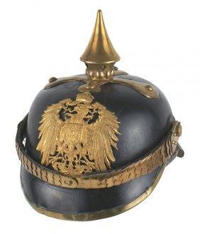 Imperial German Nco Winter Service Spiked Helmet