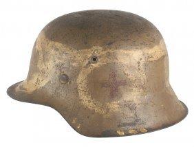 German Wwii M1942 Afrika Korps Medic Helmet