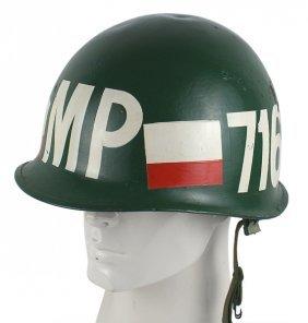 U.s. Vietnam War Era Mp Helmet