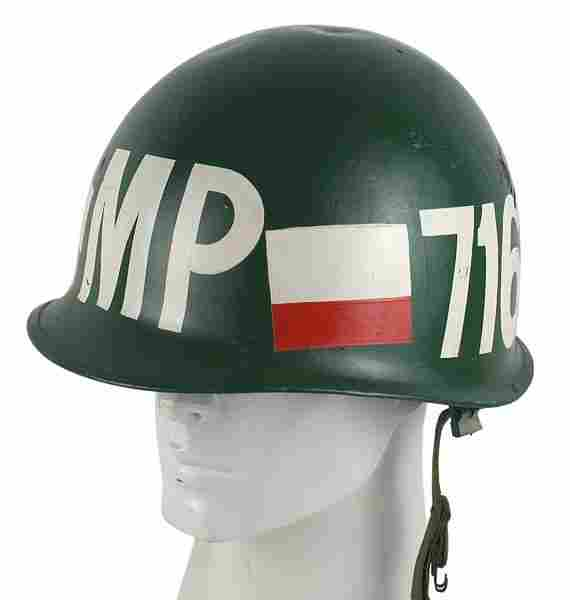 U.S. Vietnam War Era MP helmet