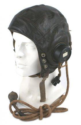 British Wwii Raf Model C Pilot Helmet