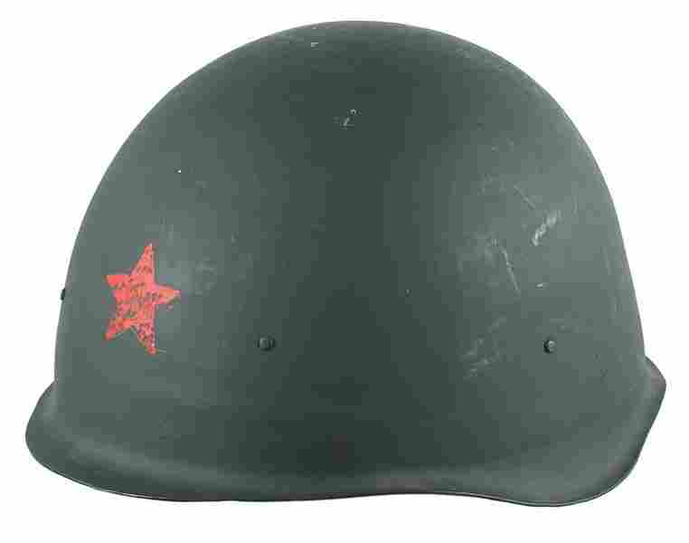 Lot of 2 Soviet post WWII helmet o'seas cap