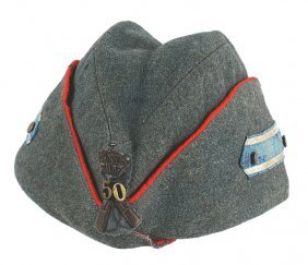 Italian Wwii Officer 50th Infantry O'seas Cap