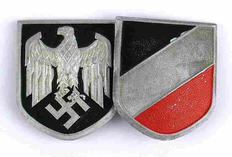 German WWII Afrika Korps pith helmet shields