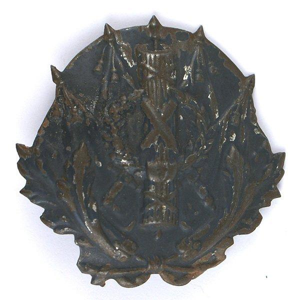 French WWI Commissarial helmet plate Adrian helmet