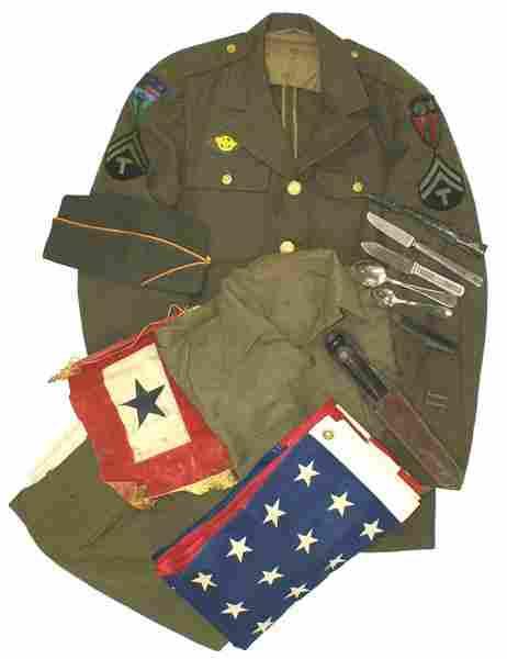 U.S. WWII CBI Theater uniform lot
